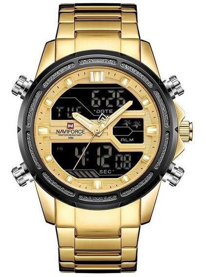 Relógio Naviforce Aço Mostradores Digital