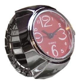 Relógio Feminino De Dedo Anel Mostrador Vermelho Quartz