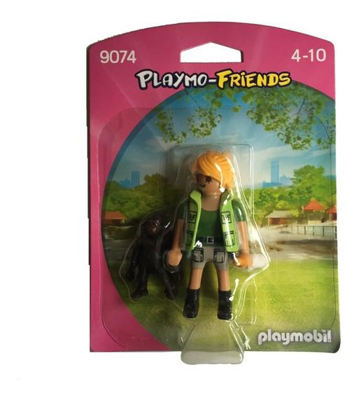 Playmobil 9074 Cuidadora Com Bebê Gorila - Playmo-friends