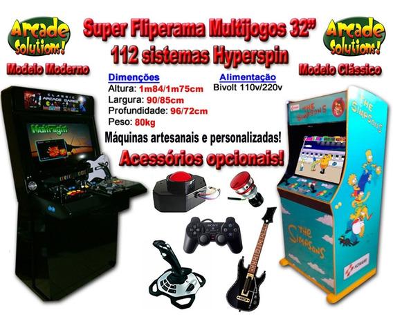 Fliperama Multijogos 32 Super Completo!...110 Sistemas!