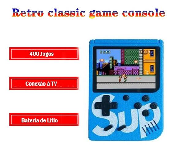 Mini Video Game Portátil Console Nintendo 400 Jogos Tela 3,0
