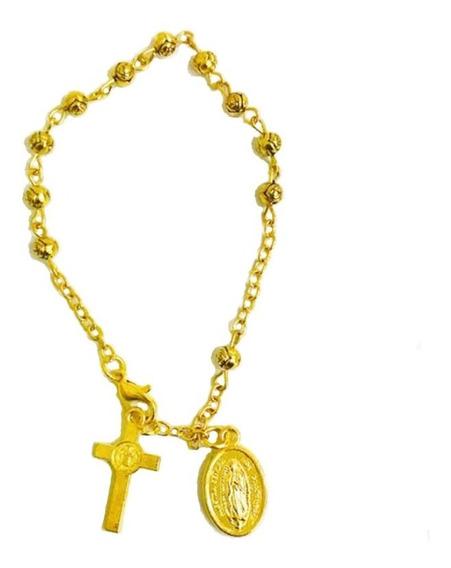 Decenario Virgen De Guadalupe Alpaca Dorado 1 Pz