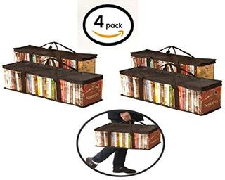Globalis Portable Dvd Storage Bag 4pack Stores 40 Dvds Cada