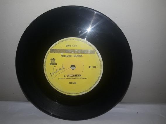 Compacto Fernando Mendes 1972 A Desconhecida