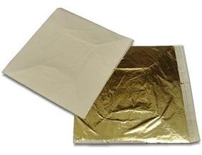 Folha De Ouro Pacote Com 25 Folhas 14 Cm Por 14 Cm