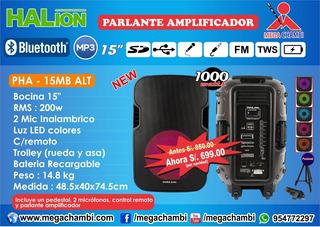 Parlante Amplificador Pha - 15mb Alt