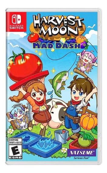 Harvest Moon Mad Dash Switch Mídia Física Novo Lacrado