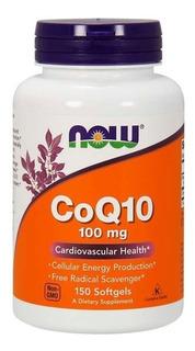 Coenzima Q-10 Coq-10 100mg 150 Softgel - Nowfoods Importado