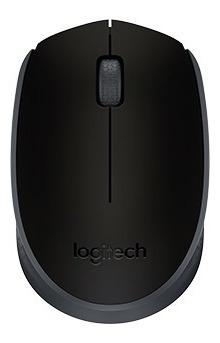 Mouse Logitech M170 Sem Fio Receptor Nano Preto Grafite