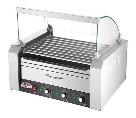 Imagen 1 de 6 de Maquina Hot Dog 24 Salchichas Calentador Pan 9 Rodillos