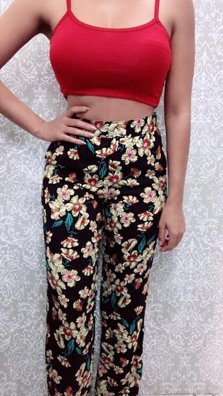 Conjunto Calça Pantalona E Kimono Verão Feminino 2019