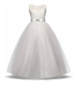 Vestido Blanco De Primera Comunión