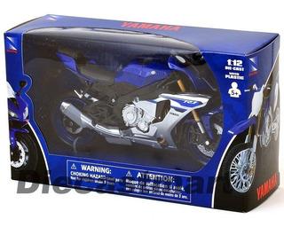 Miniatura Moto Yamaha Rzf R1 Newray 1:12 2015 Azul