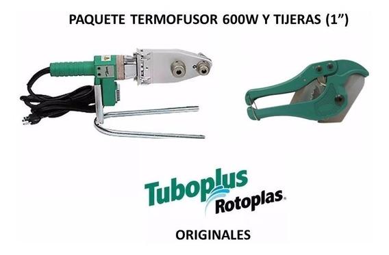 Paquete Termofusor 600w Dado 1/2, 3/4 Y Tijeras Tuboplus
