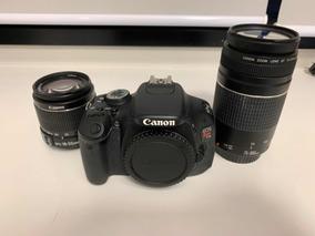 Câmera Fotográfica Cânon T3i Com Lentes 18-55 E 75-300