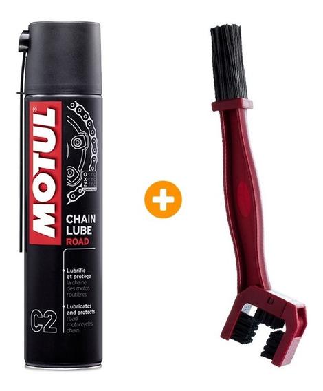Motul C2 Chain Lube 400ml + 1 Escova Lubrificante Corrente