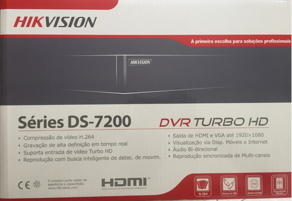 Dvr 4 Ch Turbo Hd 720p Ds-7204hghi-f1 Hikvision Com Hd 500gb