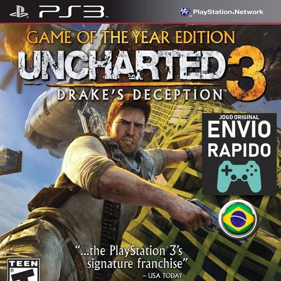Uncharted 3 Drakes Deception + Todas Dlcs Jogos Ps3