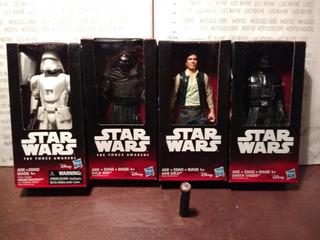 4 Figuras Disney Star Wars Darth Vader Luke Galaxias Guerra