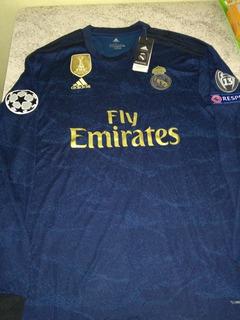 Camisa Real Madrid Manga Longa 19/20 Pronta Entrega / Pacths