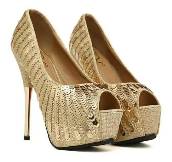 Lindo Sapato Luxo Feminina Importado - Frete Grátis
