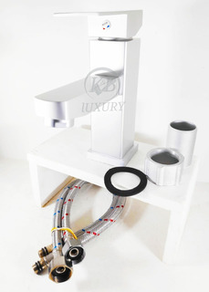 Llave Mezcladora Monomando Lavabo Aluminio Satín + Envío Gra
