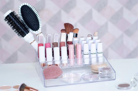 Organizador De Maquiagem Acrílico Plus C/31 Divisórias