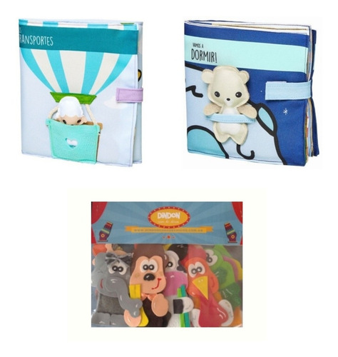 Combo Primera Infancia: Títeres + Libros Sensoriales