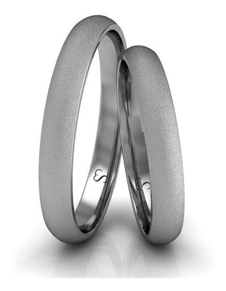Alianças Casamento Ouro Branco Diamantadas 3mm 3g