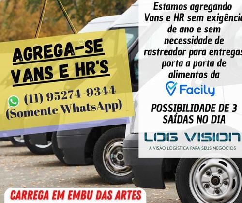 Imagem 1 de 1 de Agrega-se Vans, Hr, Trafic Em Embu Das Artes.