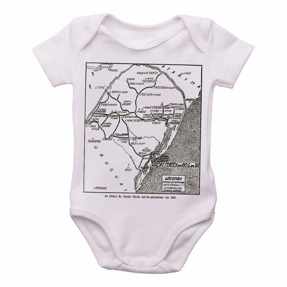 Bodie Body Infantil Roupa Bebê Linhas Férreas Rio Grande Sul