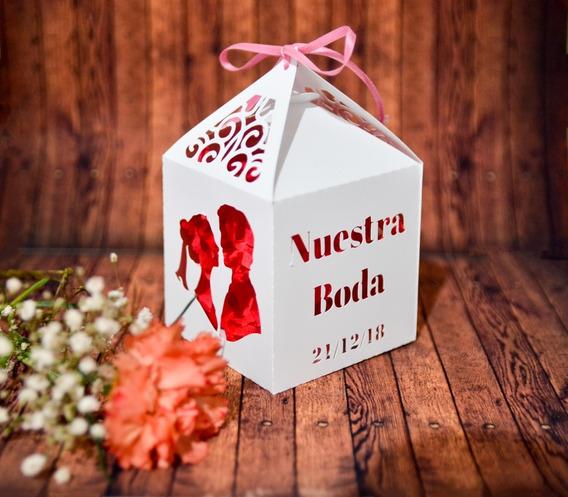 Pack 70 Cajas Caladas Personalizadas Boda Casamiento
