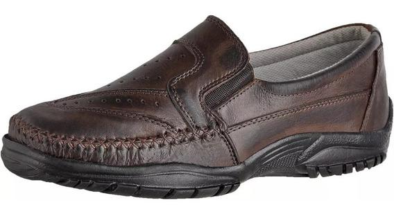 Sapatos Masculino Sapatilha Social Mocassim Couro Legitimo