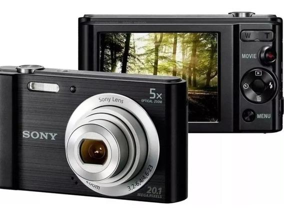 Câmera Sony Cyber-shot Dsc-w800 20.1mp 5x Zoom 720p Preto