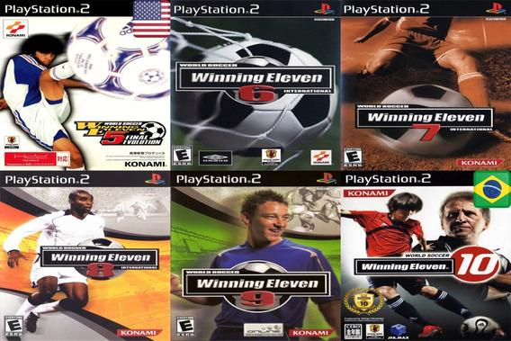 Promoção 1 Coleção 6 Jogos Winning Eleven Ps2 Patch