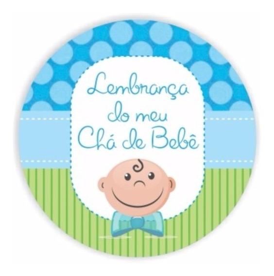 100 Adesivos 5x1 Lembrancinhas Chá Bebê Latinhas Mint To Be