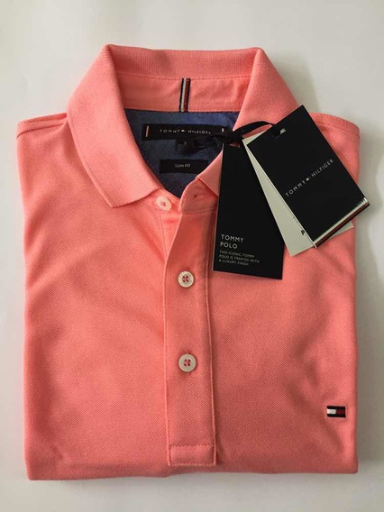 Camisa Polo Masculina Tommy Hilfiger Slim Fit Original 50648