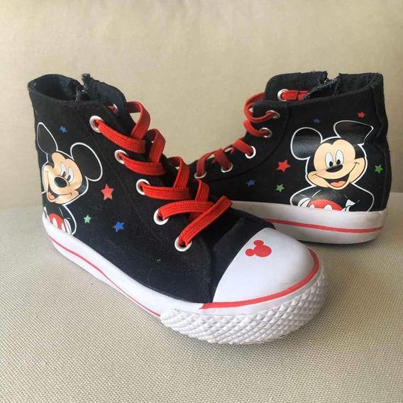 Tênis Cano Alto Mickey Original Disney Tam. 25