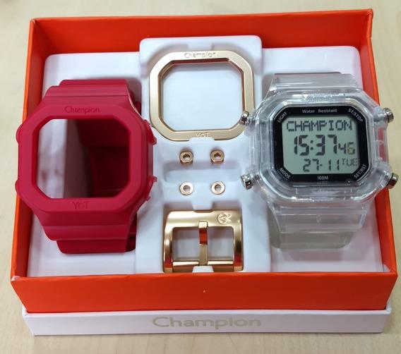 Relógio Champion Cp40180x Yot Original Frete Grátis N.f.