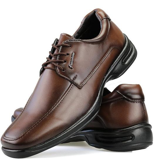 Sapato Masculino Antistress Ortopédico Confort Dhl Calçados