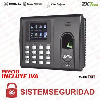 Reloj Biométrico Asistencia Accesos Huella Tarjeta K30 Zkte