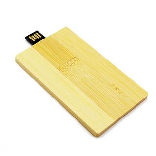Cartão Crédito Rotatable Grande Capacidade De Bambu Usb 2.0