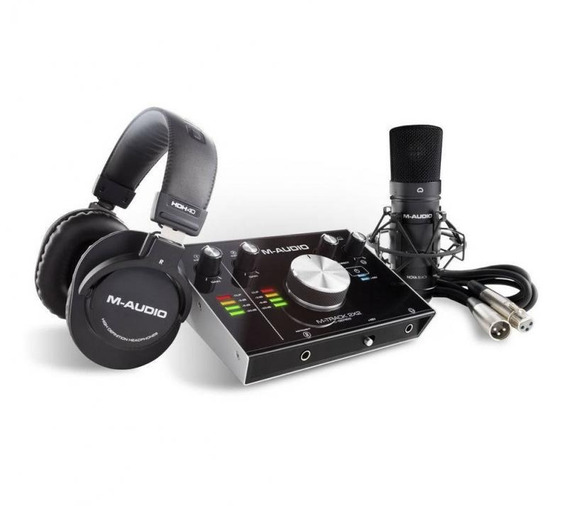 Kit De Gravação M-áudio Mtrakstdpr Interface M-track 2x2