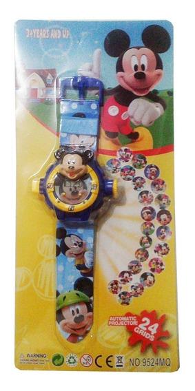 Relógio Infantil Mickey Disney Projeta 24 Imagens
