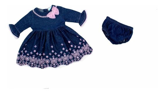 Vestido Para Bebe Niña Con Calzoncillo Super Oferta 02921