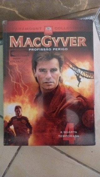 Macgyver Quarta Temporada Box Original Novo 5 Dvds