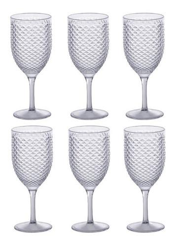 Jogo De Taças Vinho E Água 480ml Luxxor Paramount 6 Peças