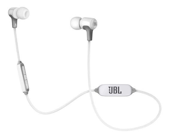 Fone De Ouvido Original Jbl E25bt Branco Inear Com Bluetooth