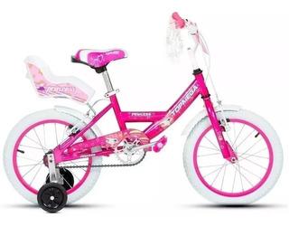 Bicicleta Nena Niña Cross Top Mega Princes R16 Bmx