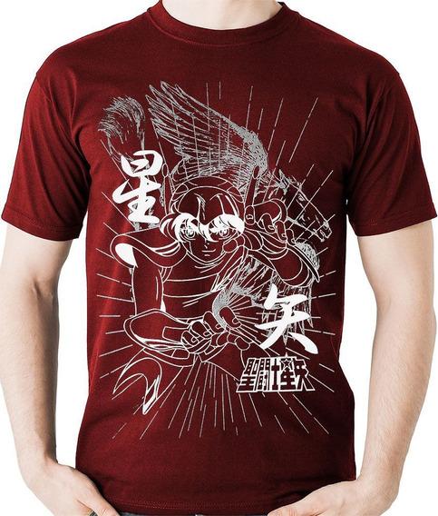 Camiseta Pegasus Seiya Cavaleiros Do Zodiaco Camisa Blusa M2